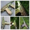 Paintball gun with 4739CS Gold Green Bronze Colorshift Pearls powder coated on the surface.
