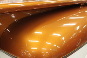 Orange Copper Candy Color Pearls on Hood.