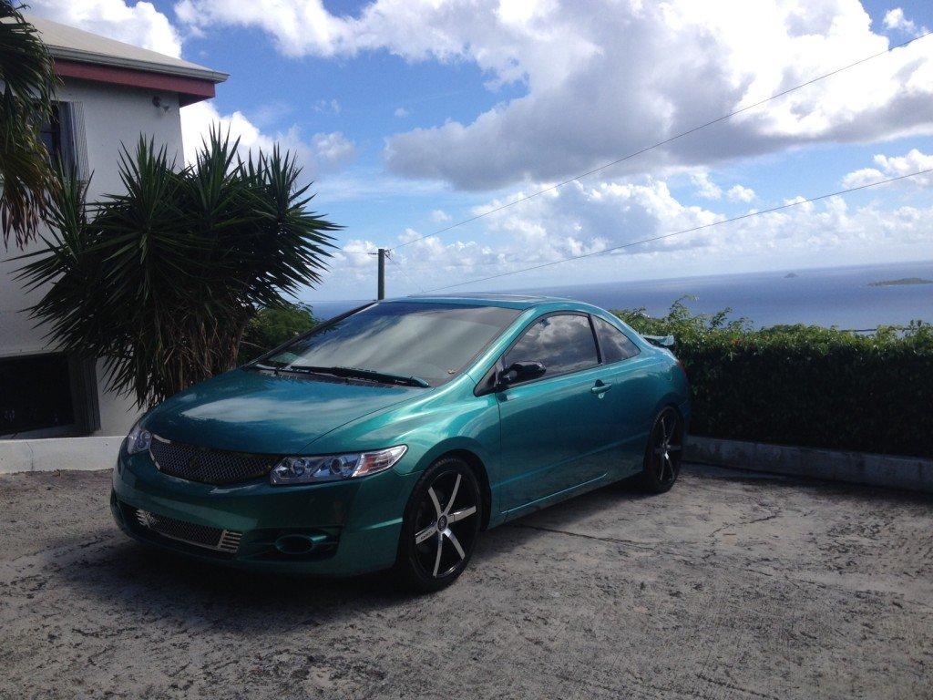 Caribbean Blue/Green on 09 Civic