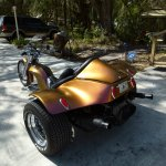Colorshift Pearls pearl 4739OR. Orange Gold Red sprayed on a Trike.