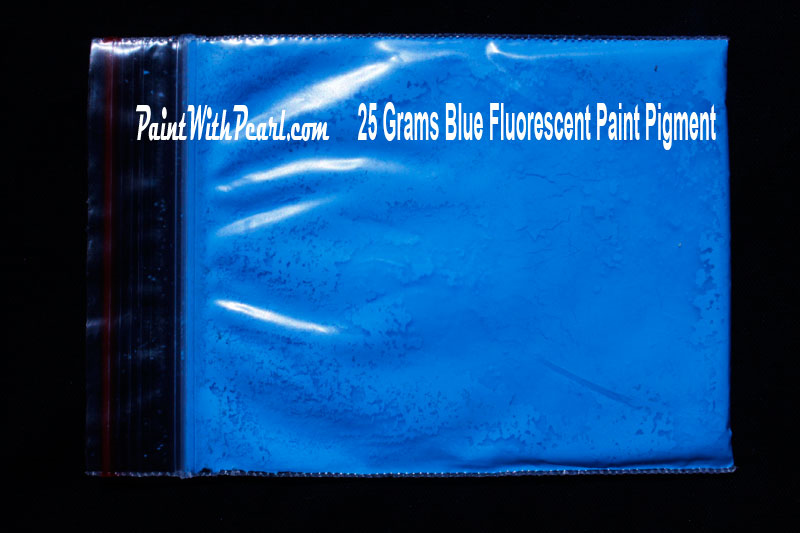 25 gram bag of blue-fluorescent-paint-pigment