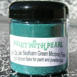 Seafoam Metallic Paint Flake