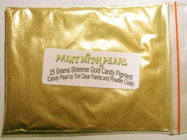 25 gram bag of Shimmer Gold Candy Pearl