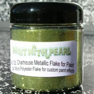 Chartreuse Metal Flake - Solvent Resistant Flake for Paint