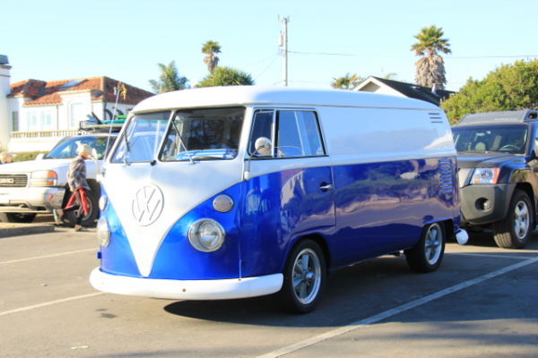 Royal Blue Candy Color Pearls VW Micro Bus Van.