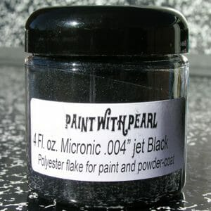 Jet Black Metal Flake - Solvent Resistant Custom Flake