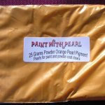 25 Gram Bag of Bright Orange Candy Color Pearls