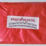25 gram bag of Hot Pink-Tangerine Candy