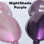 Nightshade Purple-Pink Candy Paint Pearl over White and Black