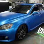 Driver View Sappire Blue Candy Color Pearls Audi Plasti dipped.