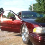 Fire Red Flake Caprice Classic using our metal Flake.