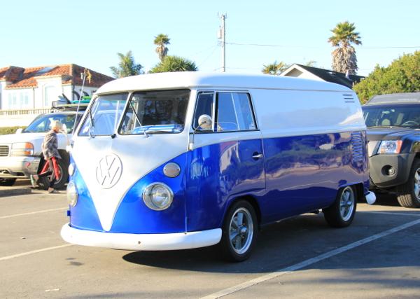 Royal Blue Candy Color Pearls VW Micro Bus Van.