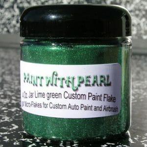 Lime Green Metal Flake