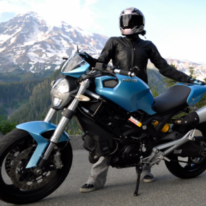 Sky Blue Ducati Monster