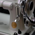 Violet Satin Phantom Pearl Close Up Sewing Machine