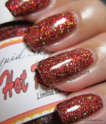 Custom made finger nail polish using our pigments and Flake