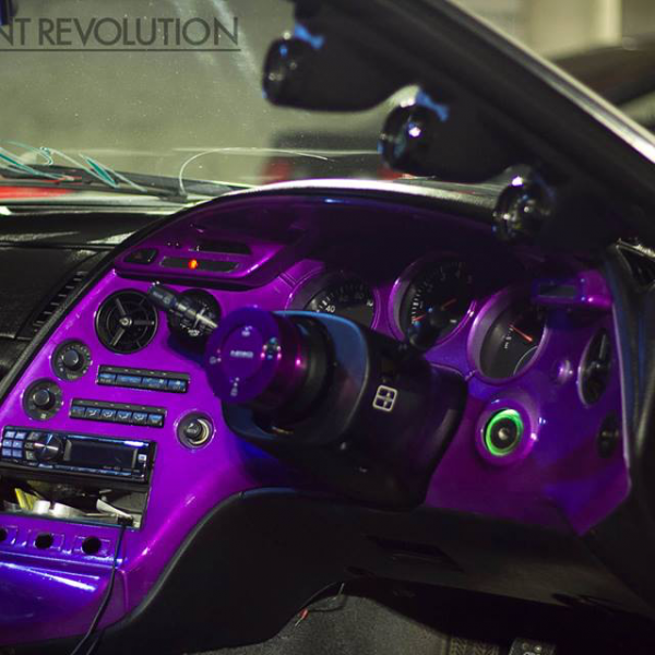 4759RBP Red Blue Purple Chameleon paint on dash board.