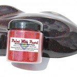 """Red Holographic Metal Flake in .004"""" Size. One Jar can treat a whole car."""