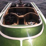 Moss Green Metal Flake on a boat in the sun