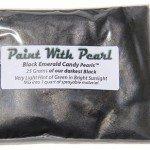 25 Gram Bag of our Darkest Black yet, Black Emerald Candy Color Pearls.