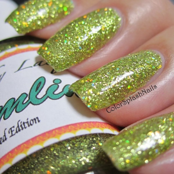 Custom made finger nail polish using our pigments and metal Flake