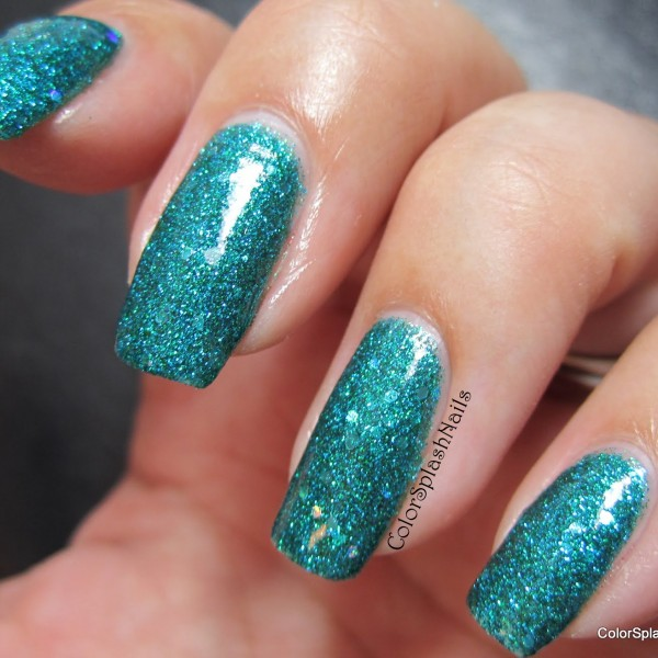 Custom made nail polish using our pigments and Flake