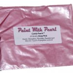 25 Gram Bag of Deep Pink Candy Color Pearls for custom paint and coatings of every kind.