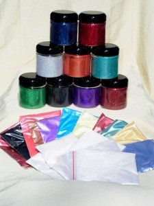Pigment Sample Packs - Mini Pro Painter Pack 25 includes all types of Pearl Pigments and Flake.