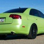 Lemon Lime Yellow Gold Flip Paint Chameleon Pearl on Audi by Dynamic Auto Dip.