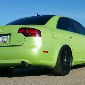 Lemon Lime Yellow Gold Flip Paint Chameleon Pearl on Audi by Dynamic Auto Dip.
