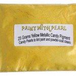 25 Gram Bag of Yellow Metallic Candy Paint Pearls.