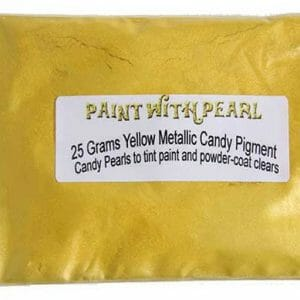 Yellow Metallic Paint Candy Color Pearls